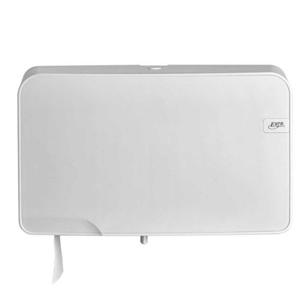 HYGMA Toiletpapierdispenser Mini jumbo Duo wit
