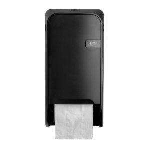 HYGMA Toiletpapierdispenser Dop zwart
