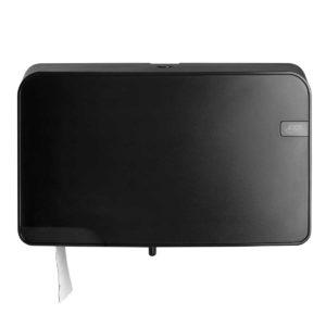 HYGMA Toiletpapierdispenser Mini jumbo Duo zwart