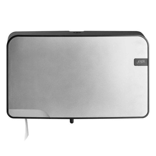 HYGMA Toiletpapierdispenser Mini jumbo Duo zilver