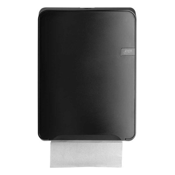 HYGMA Handdoekpapierdispenser Multifold zwart