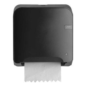 HYGMA Handdoekpapierdispenser mini matic zwart