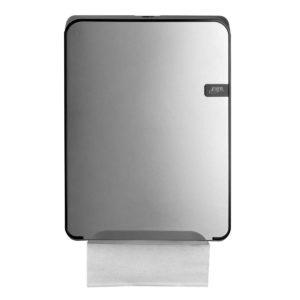 HYGMA Handdoekpapierdispenser Multifold zilver