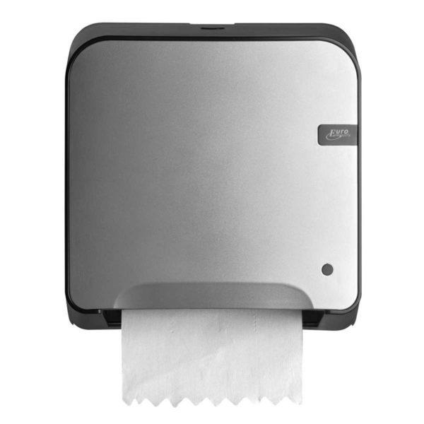 HYGMA Handdoekpapierdispenser mini matic zilver