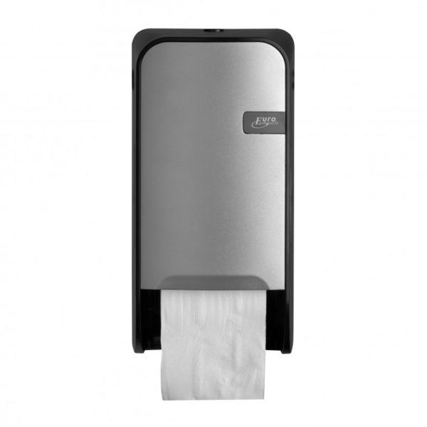 HYGMA Toiletpapierdispenser Dop zilver